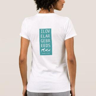 "T-shirt  ""I Love Large Breeds"" Blue"