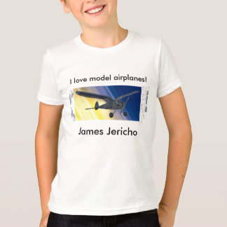 T-Shirt - I love model airplanes! with Name