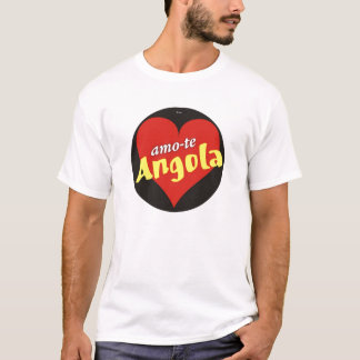 T-shirt I love you Angola - Son of the native land
