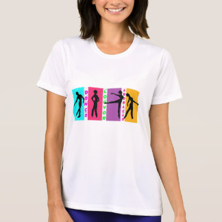 T-shirt in feminine microfibre Dance praise and…