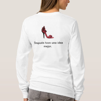 T-Shirt in Spanish joking about women and men