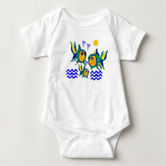 T-Shirt Infant Creeper Fish Family