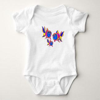 T-Shirt Infant Creeper Fish Family 2