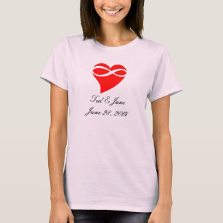 T-Shirt Infinity Heart Love Wedding Party Gifts