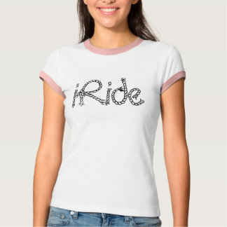 T-Shirt iRide rope lettering text horse cowgirl T