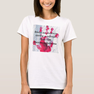 T-shirt Is enough of violence against the child