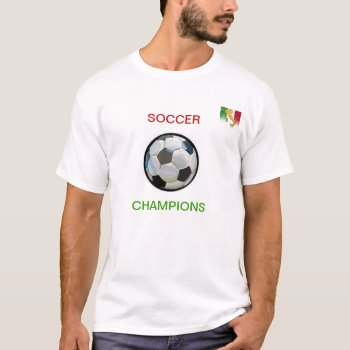 T Shirt   Italy  Soccer  Champion   Red  Wh Green by creativeconceptss at Zazzle