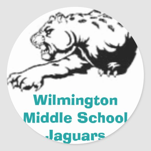 t-shirt_JGAMS01, Wilmington Middle School Jaguars Classic Round Sticker