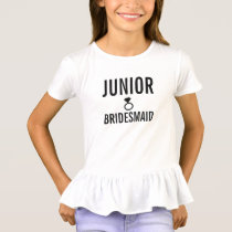 T-Shirt - Jr. Bridesmaid (Bling) White