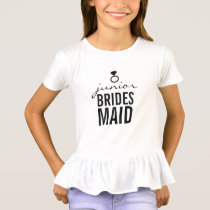 T-Shirt - Jr. Bridesmaid's Ring (Bling) White