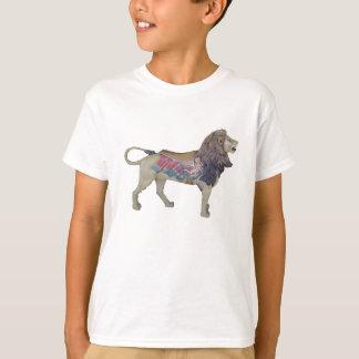 T-Shirt, Kid's, merry-go-round lion, white back T-Shirt