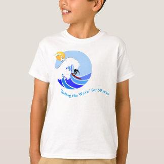 T-shirt (Kid's): MLML 50th wave (simple), white