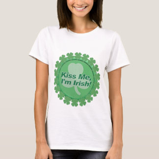T Shirt-Ladies, Girls, Top Irish-Kiss me I'm Irish