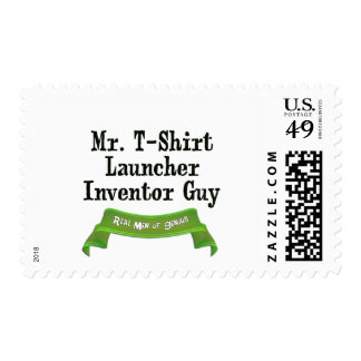 T-Shirt Launcher Inventor Postage Stamp