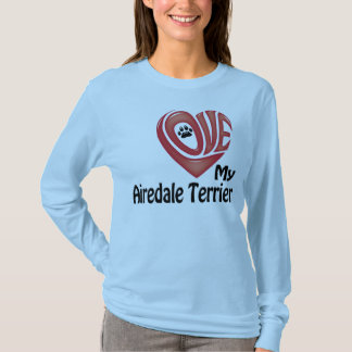 T-Shirt Long-sleeve Women Love My Airedale Terrier