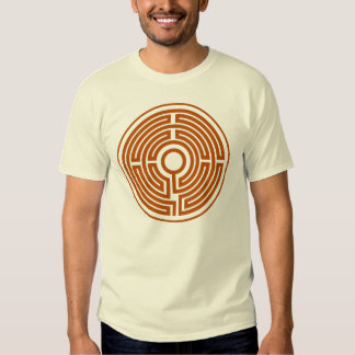 T-Shirt medieval labyrinth circle small