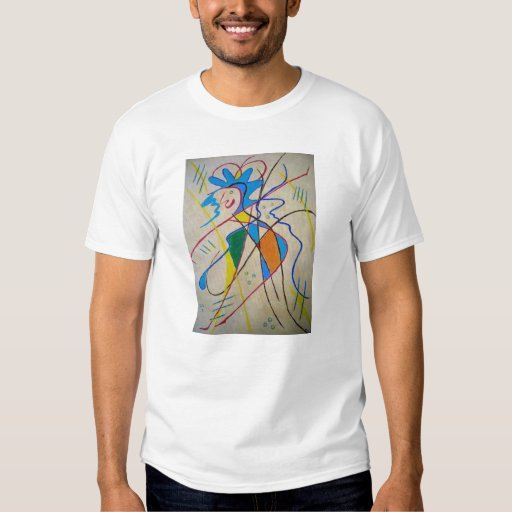 t-shirt met vrolijke fantasie afbeelding