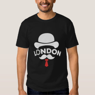 T-Shirt Negro London Corbata Rojo Camisas