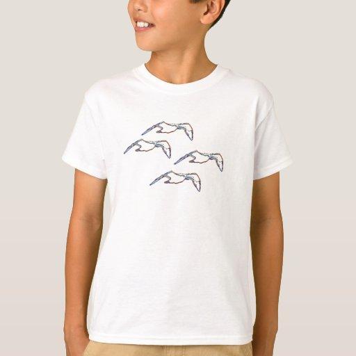 T-shirt - neon seagulls