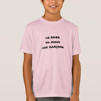 t-shirt niño muchacho rosado playera
