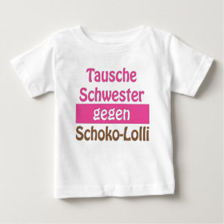 "T-shirt of ""exchanges sister against Schoko Lolli"