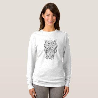 T-shirt of long mangos Owl Pb