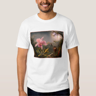 T-Shirt: Orchid and Hummingbirds T-Shirt