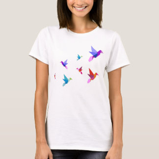 T-shirt origami hummingbirds