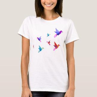 T-shirt origami hummingbirds playera
