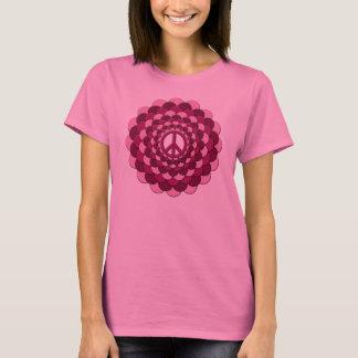 T-Shirt, Peace Flower, Pink T-Shirt