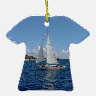 T-Shirt pendant, I'd rather be sailing! Ornaments