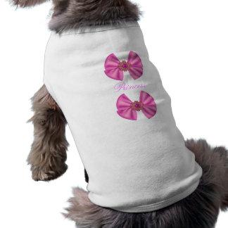 T-Shirt Pets Pink Bow Princess Named