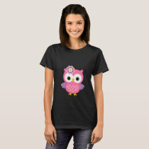 T-SHIRT PINK OWL (TO LIE DOWN JUNGLE)