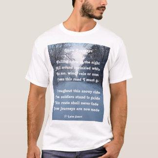 T-Shirt Poem Snow Journeys By Ladee Basset