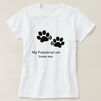 T-shirt - Polydactyl cat paws - women
