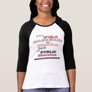 "T-Shirt: ""Put..Back"" Ladies, Black Sleeves T-Shirt"