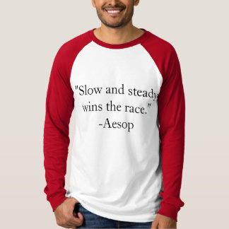 T-Shirt Quotation about Winning by Aesop