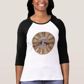 T-Shirt Raglan Women's Fitted T-Shirt Horse Design