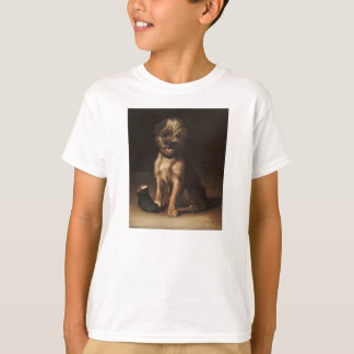 T-shirt Reproduction Vintage Portrait of puppy