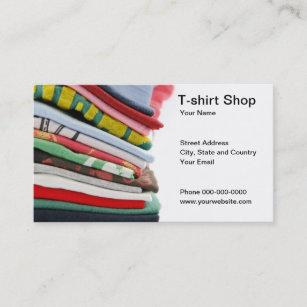 Shirt business cards templates zazzle t shirt shop business card colourmoves