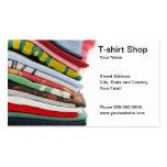 T-shirt Shop Business Card Business Card