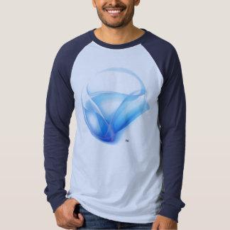 T-Shirt Silver-Blue Light