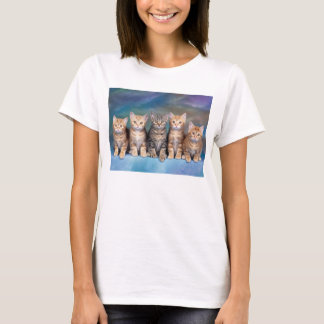 T-shirt simple mujeres gatos playera
