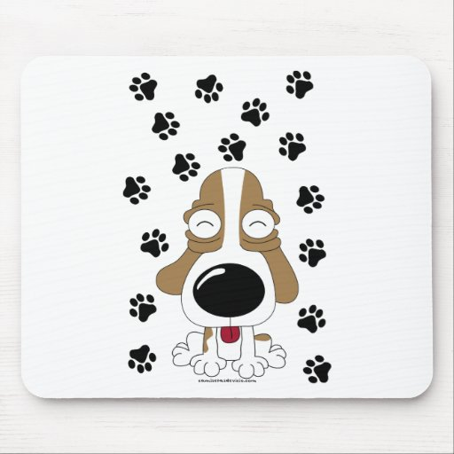 T-shirt small dog mouse pad