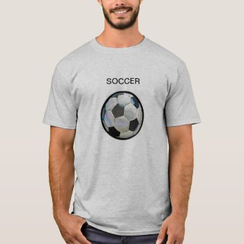 T Shirt  Soccer   Grey  & Black by creativeconceptss at Zazzle