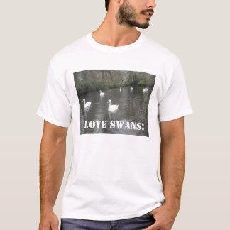 T-Shirt Swans Swimming, I Love Swans