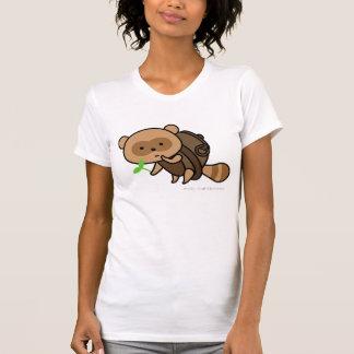 T-shirt - TeaKettle Tanuki with leaves