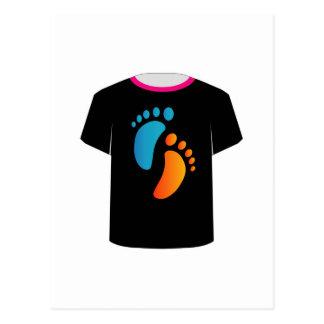 T Shirt Template-baby foot Postcard