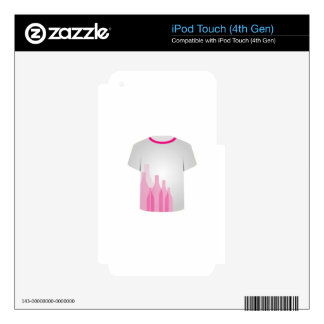 T Shirt Template- bottles Decals For iPod Touch 4G