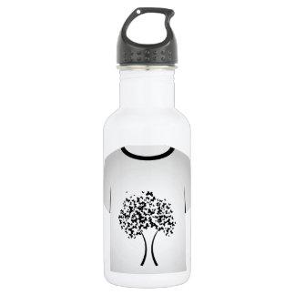 T Shirt Template- Butterfly tree Water Bottle